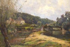 Le Morin à Crécy-en-Brie  - Huile sur toile -Sbs - 47X61 cm- Collection particulière           -- (Crécy-en Brie devenu Crécy-la-Chapelle)