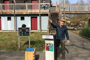 Présentation par Stéphane Rouault , architecte chez @Lemérou Architecture , du projet d'hébergement des chercheurs et étudiants à la Station d'écologie forestière de l'université de Paris Diderot -Fontainebleau77 - Archi sur site - CAUE77